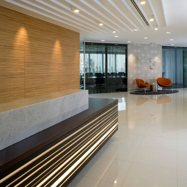 Bespoke Hotel Reception - Low Level Lighting