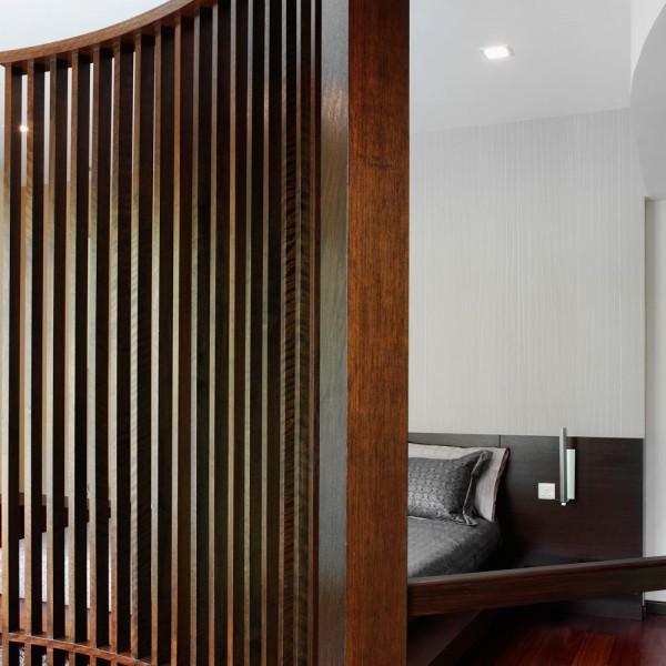 Bespoke Room Divider - Curved Wood