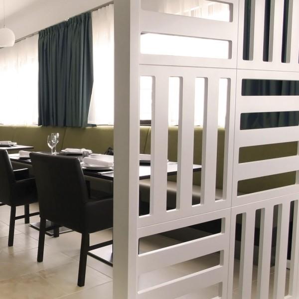 Bespoke Room Divider - White Wood