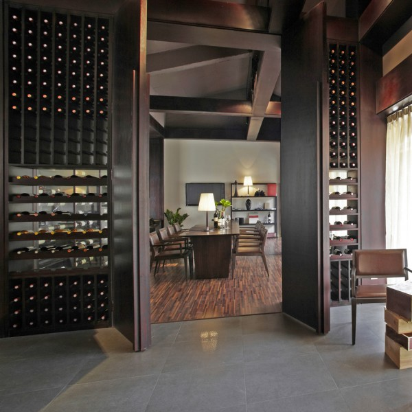 Bespoke Wine Feature Wall