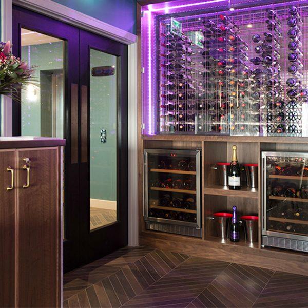 Bespoke Wine Wall - Seven Hotel