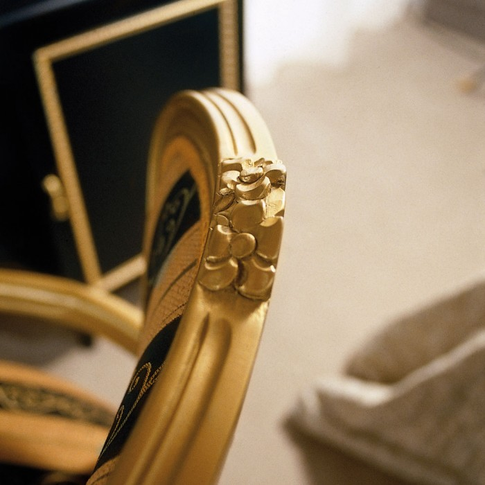 Guest Chair Detail - Paris Gold