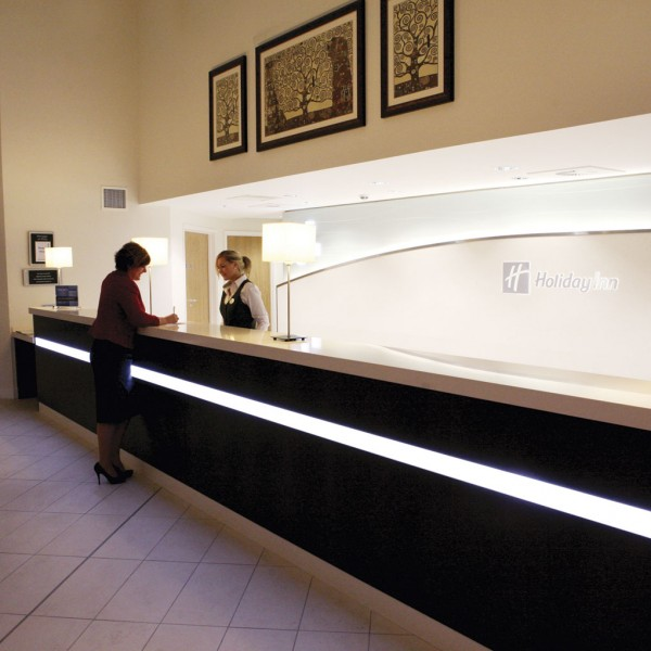 Reception Counter Integrated Lighting
