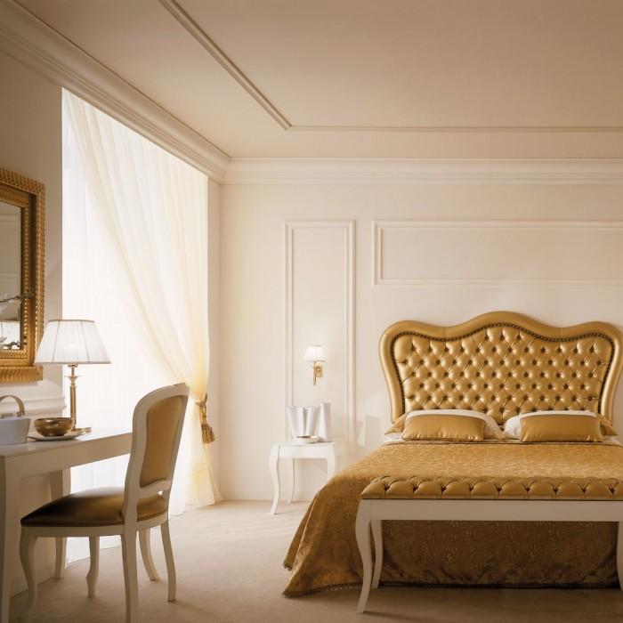 Upholstered Headboard - Venice Gold