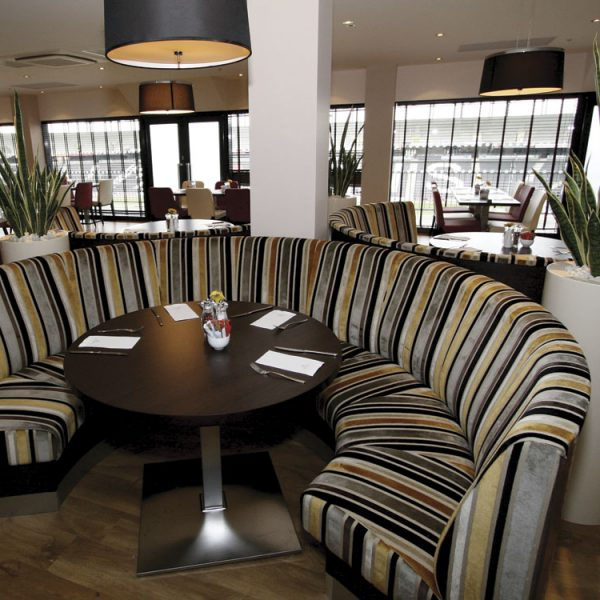 Freestanding Banquette Seating: Restaurant Booth Seating - Furnotel