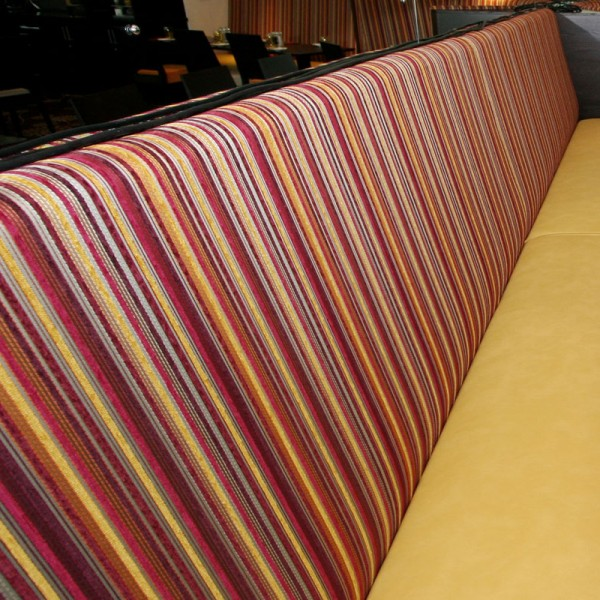 Banquette Seating - Upholstered Stripe
