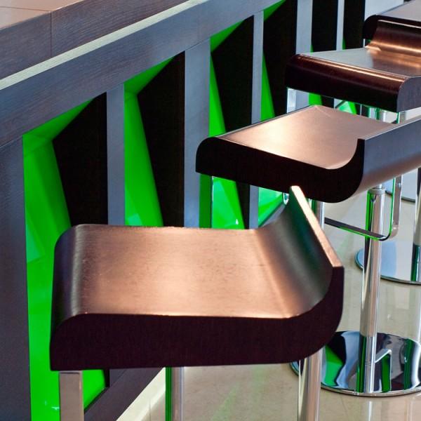 Bespoke Bar - Wenge - Angled Inset