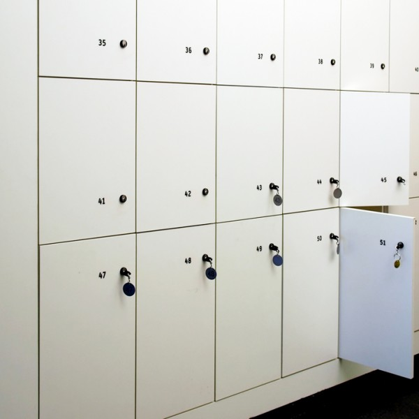 Simple White Lockers Hotel Spa