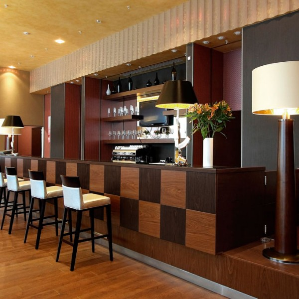 Hotel Bar Design Panelled Wood