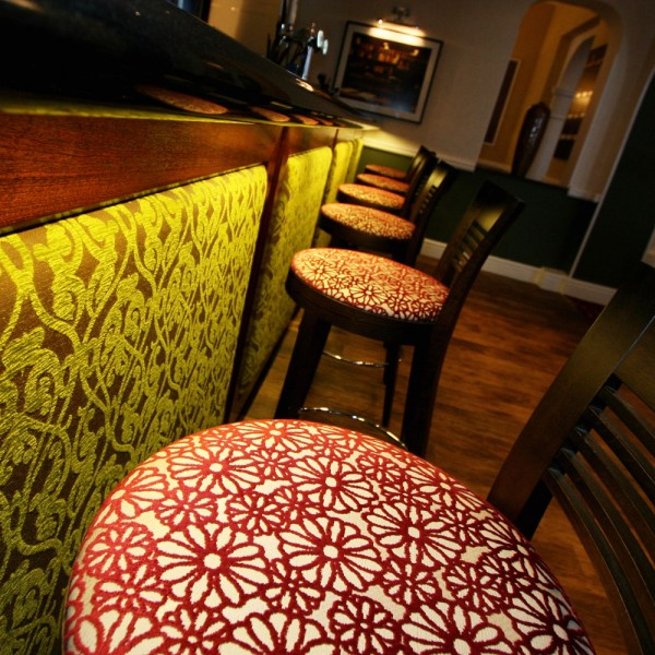 Hotel Bar Design - Upholstered Panels