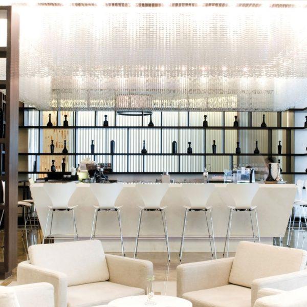 Hotel Bar Design - Elegant Open Shelving