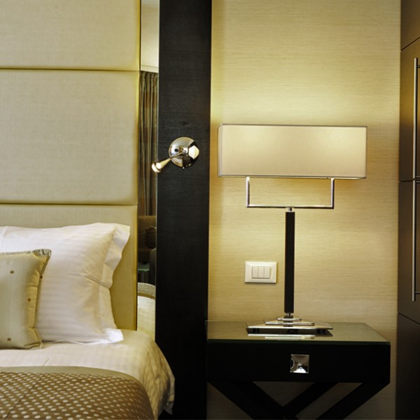 Bespoke Hotel Bedside with Chrome Knob
