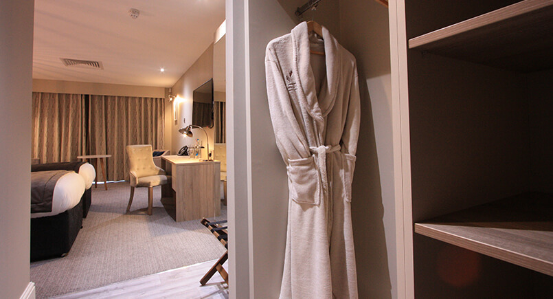 Hotel bedroom fitted wardrobe