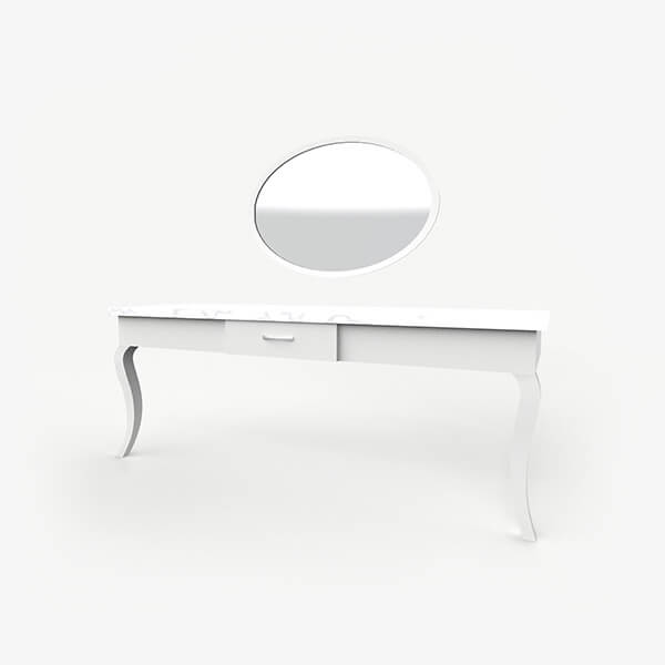Boutique Hotel Desk with Mirror - Layla