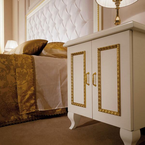 White Boutique Hotel Bedside Table - Paris