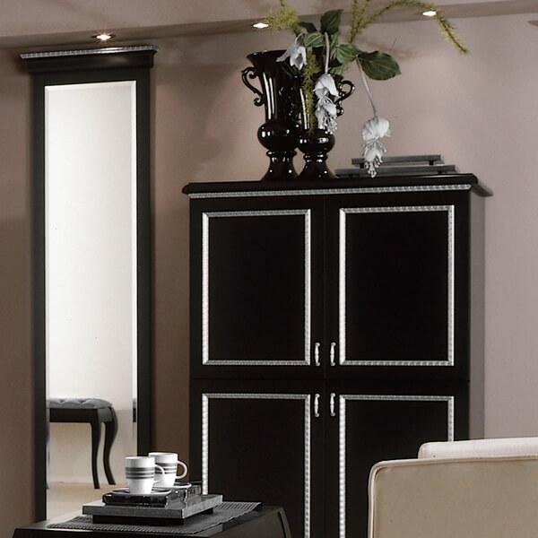 Black Boutique Hotel TV Table - Paris