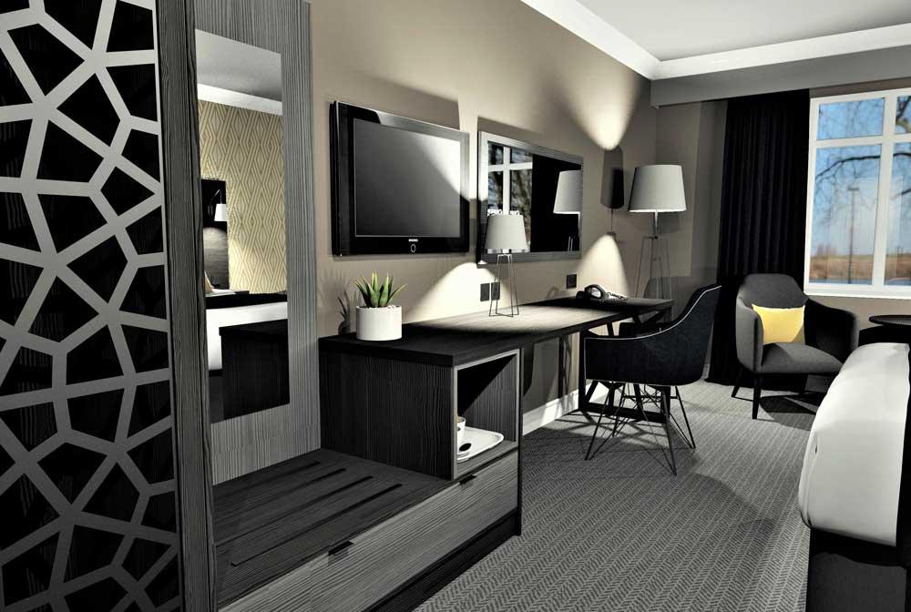 Corporate Hotel Bedroom Furniture - Mia 02