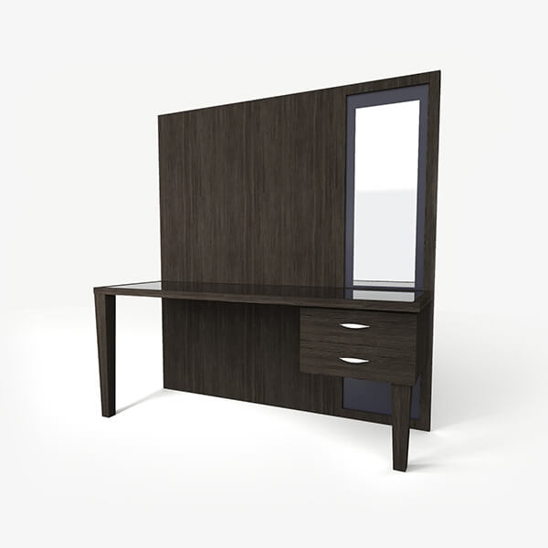 Luxury Hotel Desk with Mirror - Rosa