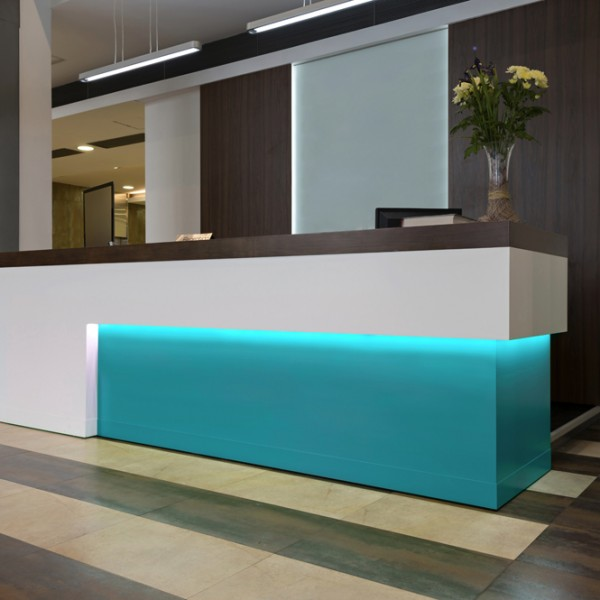 Bespoke Reception Counter Lit Inset
