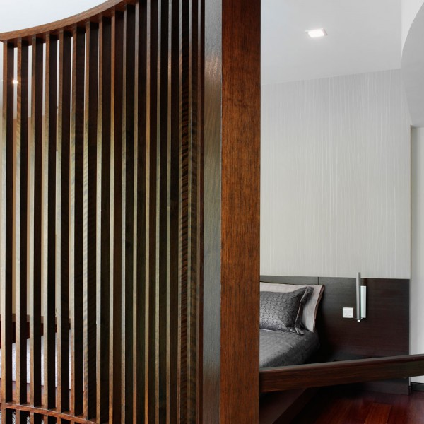 Bespoke Room Divider - Curved Wood