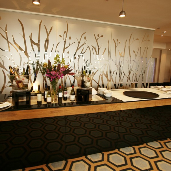 Bespoke Room Divider - Frosted Glass