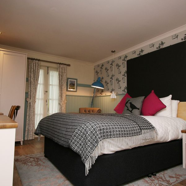 Black and Duck Egg Boutique Hotel Bedroom