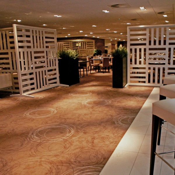 Bespoke Room Divider - White Fretwork