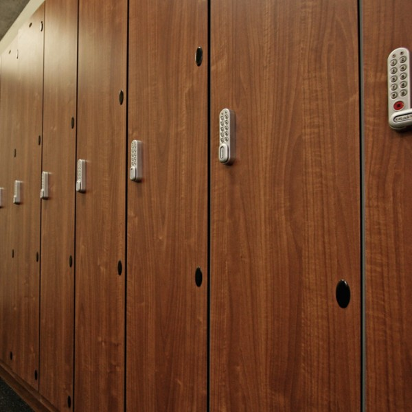 Bespoke Lockers Dark Wood