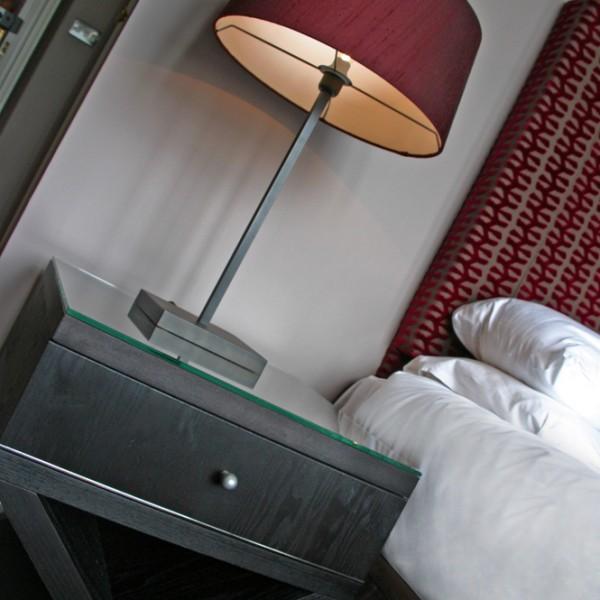 Bespoke Bedside Table with Cross Leg Detail