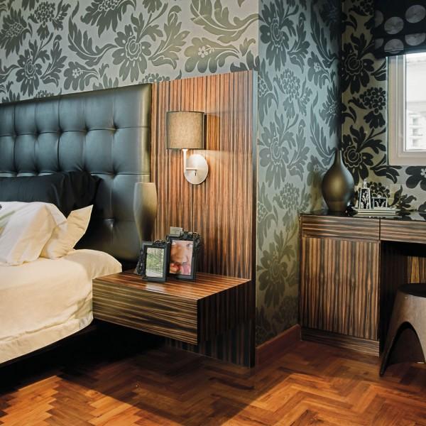 Bespoke Hotel Zebrano Wood Headboard and Case Goods