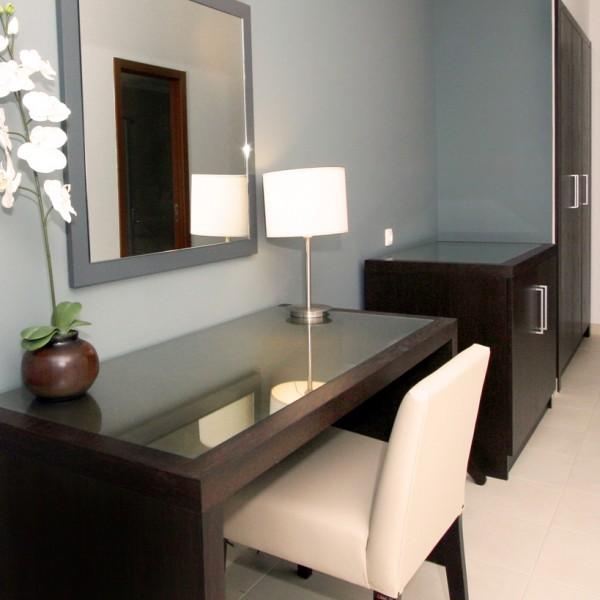 Dark Wood Bespoke Hotel Desk