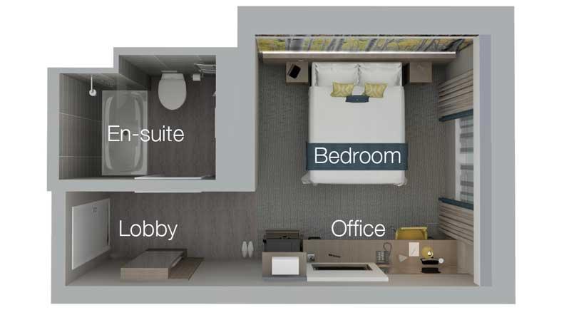 Hotel Bedroom Zones
