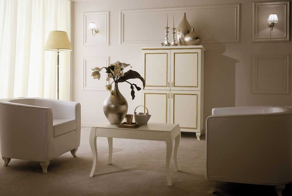 Boutique Hotel Bedroom Furniture - Ivory with Gold Trim