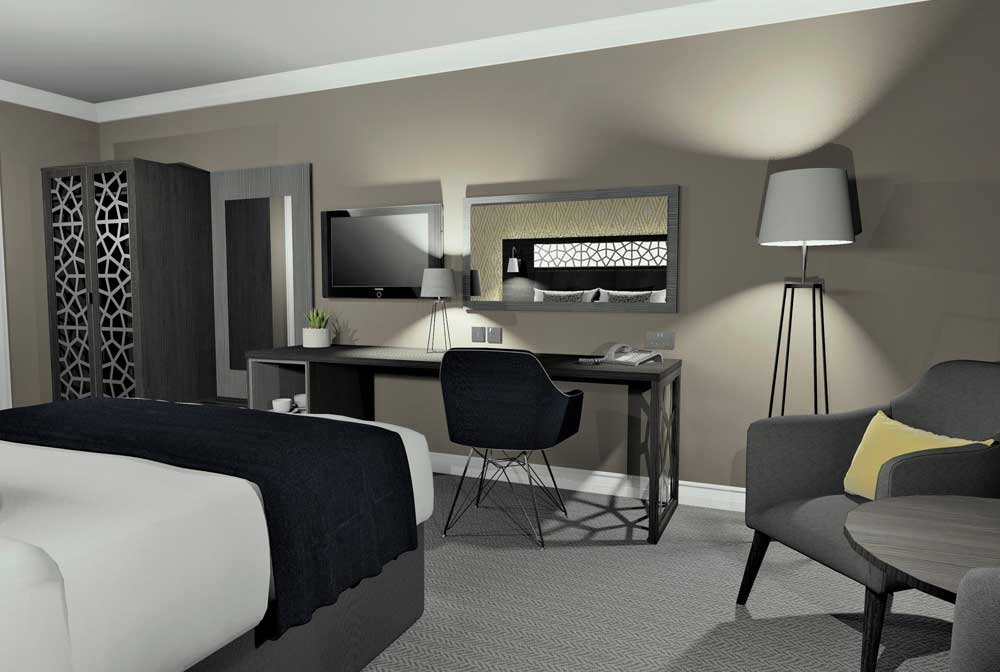 Corporate Hotel Bedroom Furniture - Mia 01