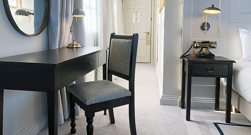 Georgian Style Desk & Bedside in Dark Stain