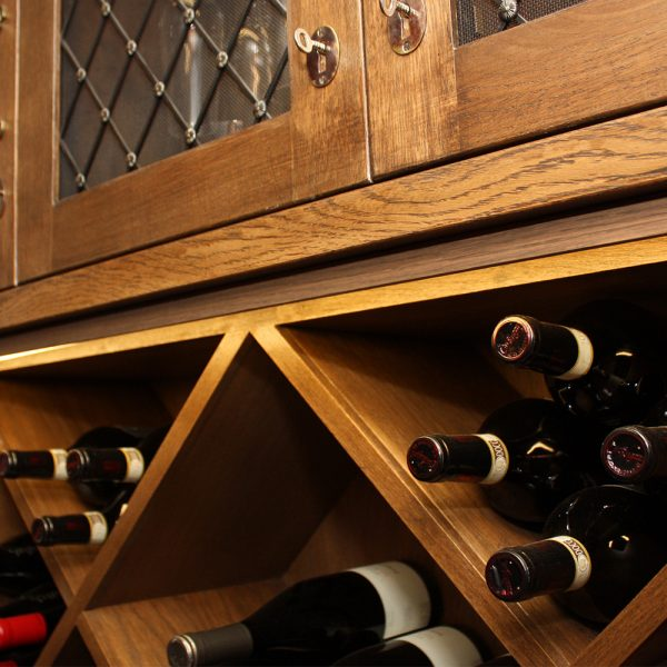 hospitality wine wall joinery